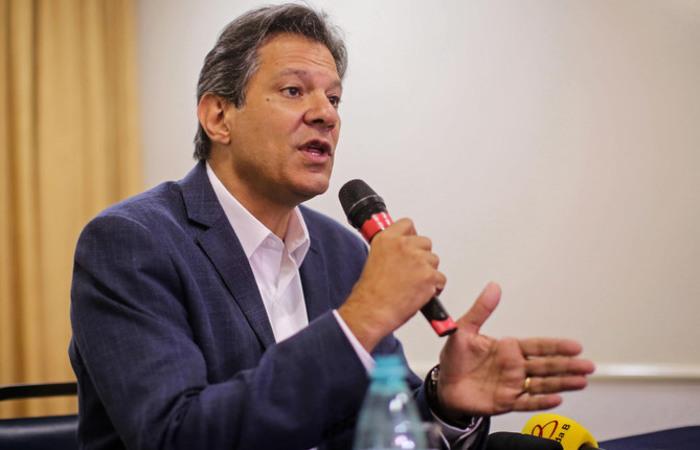 Haddad disse que teve apenas 22 dias de campanha e chegou ao segundo turno com quase 30% dos votos. Foto: Heuler Andrey / AFP