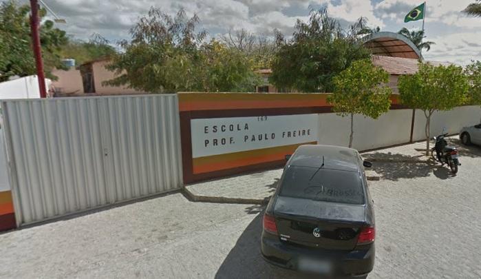 Acidente aconteceu na Escola Professor Paulo Freire, em Salgueiro. Foto: Google Maps/Reprodução.