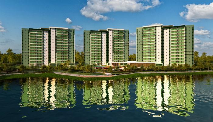 Residencial Paradiso conta com estrutura de lazer diferenciada e o nível de acabamento é considerado alto. Foto: Divulgação/Paiva (Foto: Divulgação/Paiva)