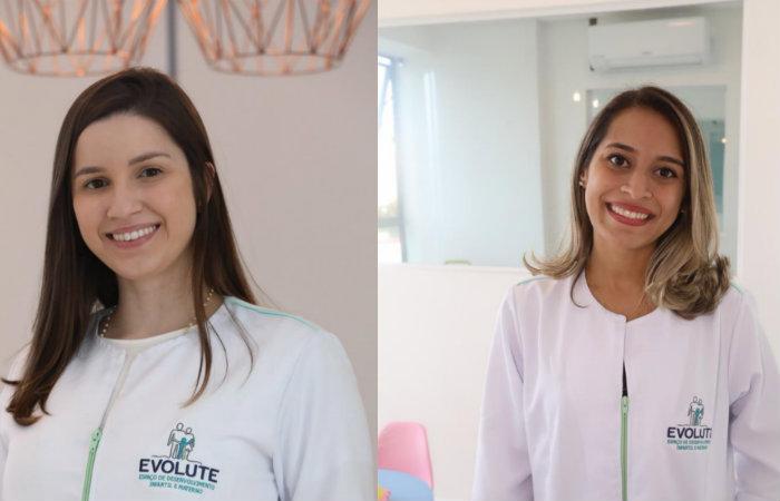 A fonoaudióloga Jeyse Bernardes e a terapeuta ocupacional Amanda Almeida estarão dando dicas importantes para o crescimento saudável dos bebês. Imagem: Divulgação