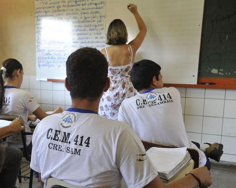 Estudantes que pretendem ser professores tiveram desempenho abaixo da média no Pisa. Foto: Arquivo/Agência Brasil