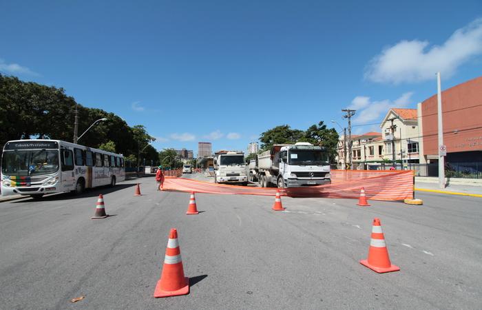 Intervenção na Rua do Hospício - Foto: Annaclarice Almeida/DP/D.A Press