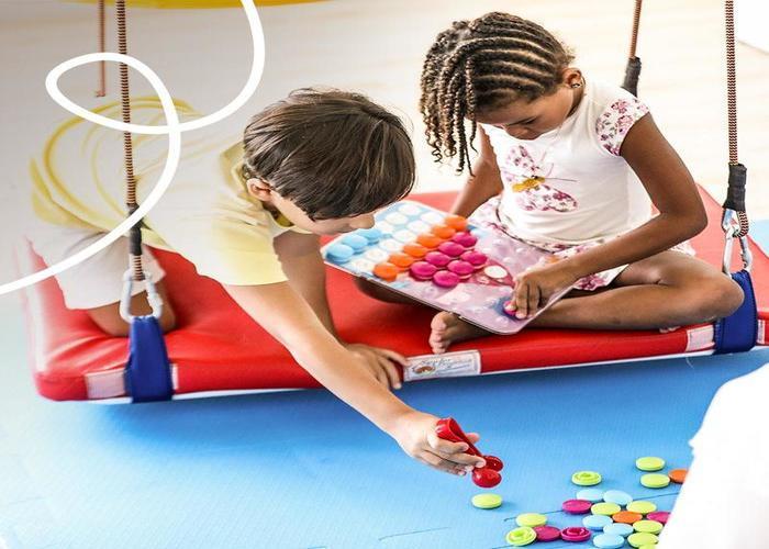 Crianças são estimuladas com jogos e brincadeiras lúdicas. Imagem: Divulgação