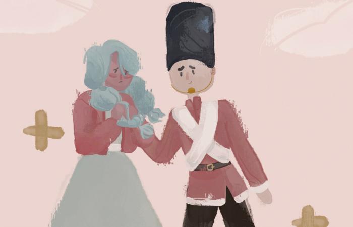 O livro conta a história dos bonecos de pano Dadinho e Trancinha. Foto: Cepe/Divulgação