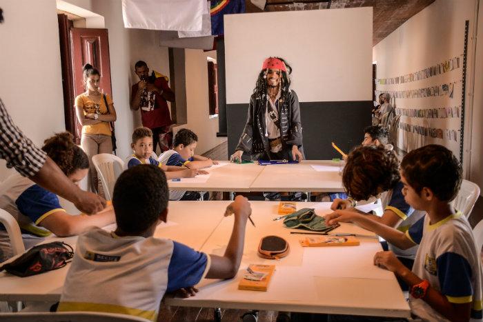 Estudantes aprenderam técnicas cinematográficas. Foto: Daniel Tavares/PCR/Divulgação