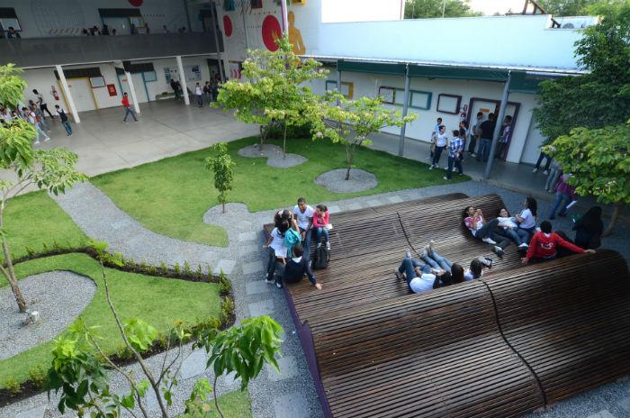 Escola fica no bairro de Boa Viagem, Zona Sul do Recife. Foto: Alyne Pinheiro/Divulgação
