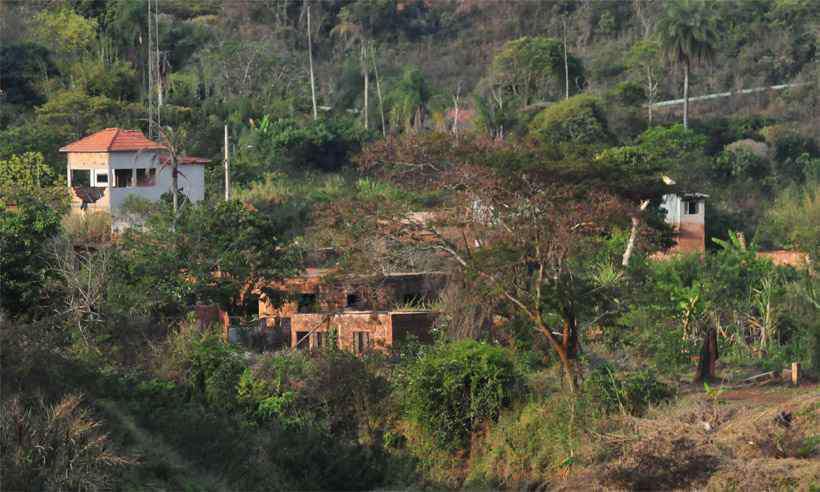 Vista atual do distrito de Bento Rodrigues, destruído pela lama de rejeitos da Barragem do Fundão. Foto: Gladyston Rodrigues/EM/DA Press