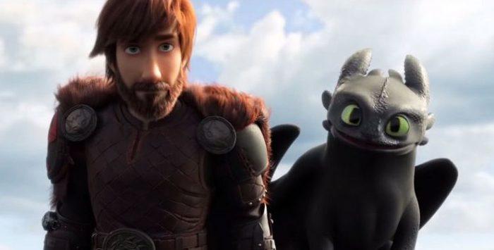 O longa da sequência mostra as aventuras dos personagens Soluço e Banguela. Foto: Divulgação