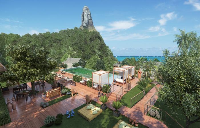 Proposta é ter uma construção sustentável e levar serviço hoteleiro de alto padrão para o destino turístico. Foto: Nannai/Divulgação (Foto: Nannai/Divulgação)