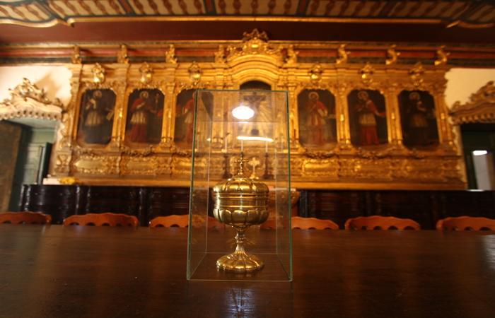 A sacristia do tempo também terá painéis restaurados.  Foto: Peu Ricardo/DP