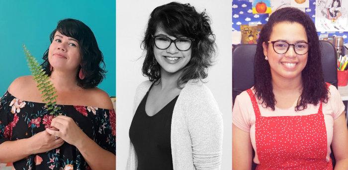 Paula Figueirôa, Thais Cavalcanti e Ana Rosa da Silva usam o Instagram para divulgar seus trabalhos. Foto: Divulgação