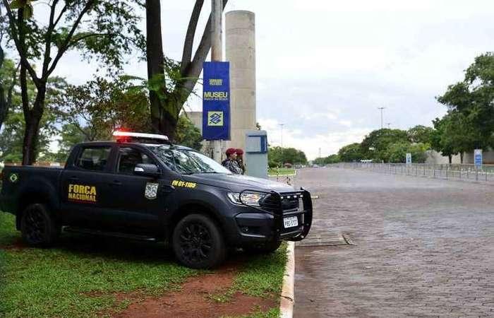 Entrada do Centro Cultural Banco do Brasil: tudo fechado para a montagem da sede da equipe do presidente eleito em Brasília (foto: Marcelo Ferreira/CB/D.A Press)