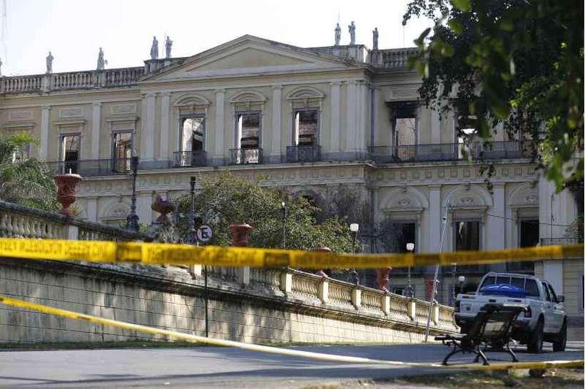 Em 2 de setembro, um incêndio destruiu o prédio e 90% do acervo do Museu Nacional, no Rio de Janeiro. Foto: Fernando Frazão/Agência Brasil