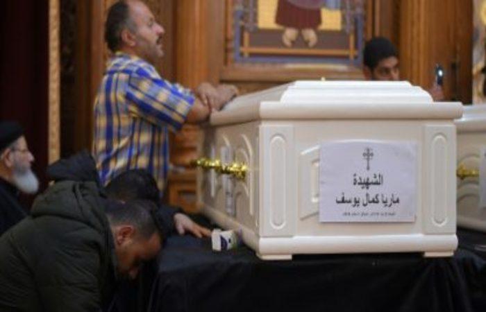 Funeral de vítimas de ataque contra cristãos no Egito em 3 de novembro de 2018 . Foto: AFP