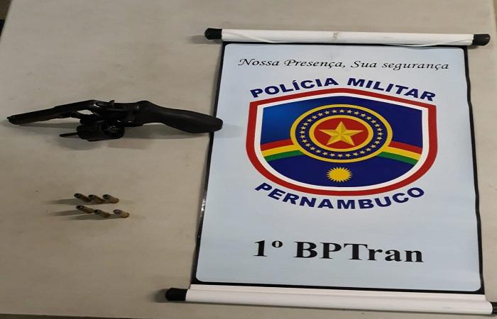 Além do projétil, foram encontradas seis munições intactas. Foto: Polícia Militar/Divulgação