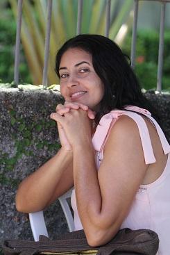 Na torcida pela filha, Adriana espera bom resultado. Foto: Nando Chiappetta