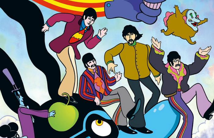 Lançado originalmente em 1968, a única animação feita para o cinema relacionada aos Beatles. Foto: Apple/Divulgação