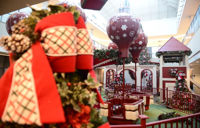 Decoração de Natal é uma atração a mais para os consumidores do estado. Foto: Shopping Recife/Divulgação