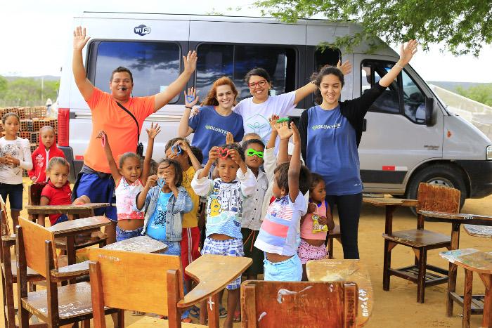 Programas permitem voluntariado também dentro do Brasil, como no Sertão de Pernambuco. Crédito: Ana Luiza Pira/Divulgação (Ana Luiza Pira/Divulgacao)