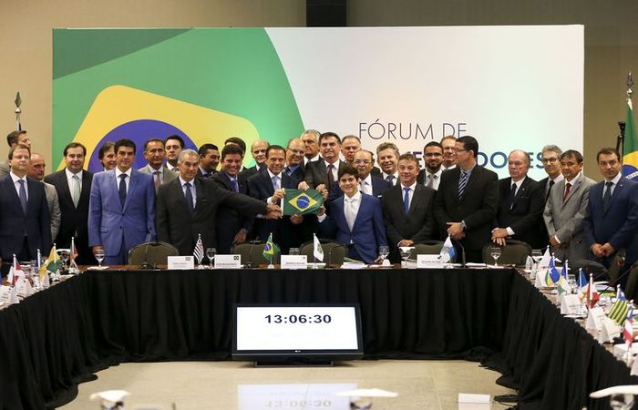 O presidente eleito Jair Bolsonaro participa de Fórum de Governadores eleitos e reeleitos, em Brasília. Foto: Marcelo Camargo/Agência Brasil