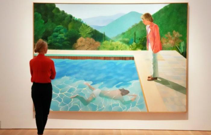 Retrato de um Artista (Piscina com Duas Figuras), um dos seus trabalhos mais admirados, é também um dos mais misteriosos. Foto: AFP