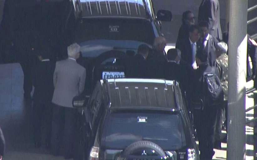 O presidente eleito Jair Bolsonaro (à direita) chega a São Paulo. Foto: TV Globo/Reprodução