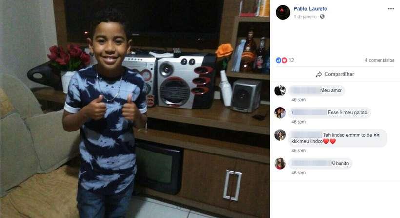 Menino de nove anos foi picado por escorpião da última sexta-feira (23/11). Foto: Reprodução/Facebook