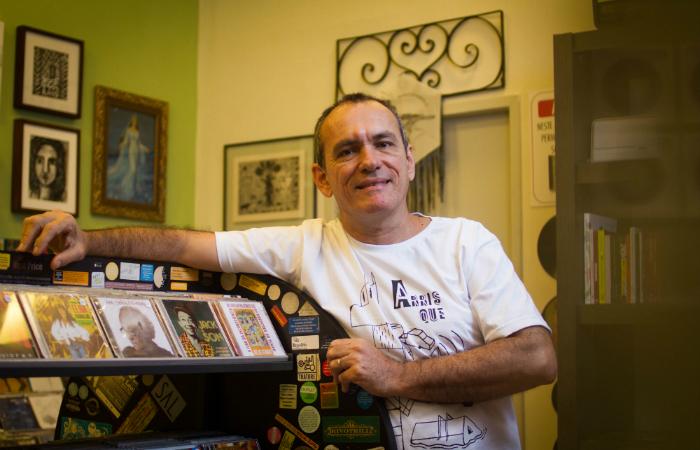 Fábio Cabral de Mello é o proprietário do estabelecimento.Foto: Leo Malafaia/Esp. DP