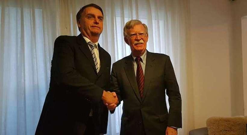 Na terça, Bolton enalteceu o encontro que teria com Bolsonaro nesta quinta. Foto: Jair Bolsonaro/Redes Sociais