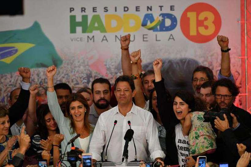 Candidato do PT, Fernando Haddad, após a derrota para Bolsonaro, em outubro. Foto: Nelson Almeida