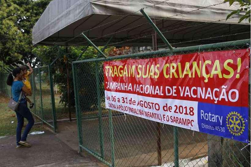 No Brasil, o Ministério da Saúde registra queda na cobertura vacinal. Foto: Ana Rayssa/Esp. CB