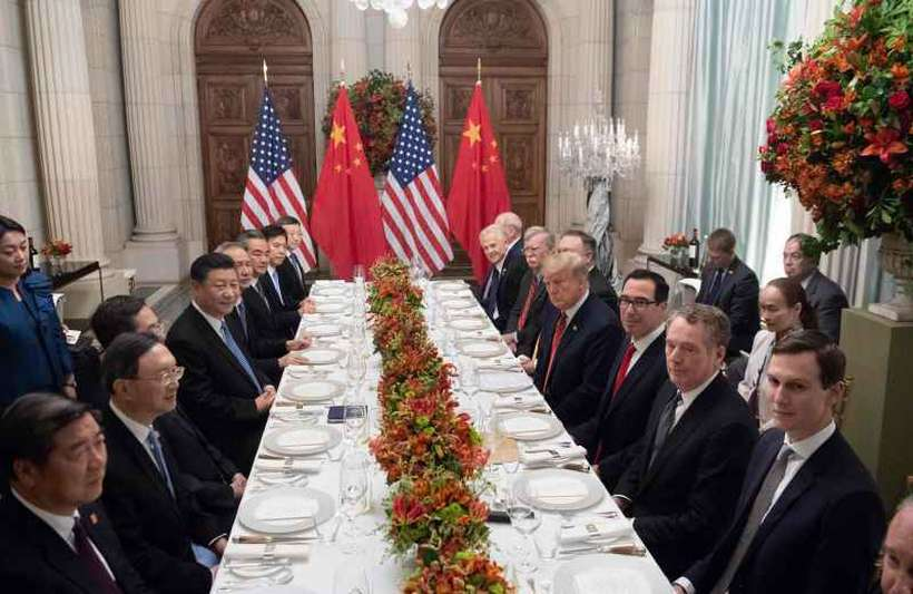 Trump e Xi Jinping em Buenos Aires: EUA adiam alta de impostos por 90 dias. Foto: Saul Loeb / AFP