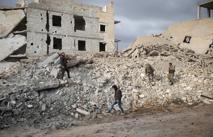 Alepo, Síria. Foto: Aaref Watad  AFP