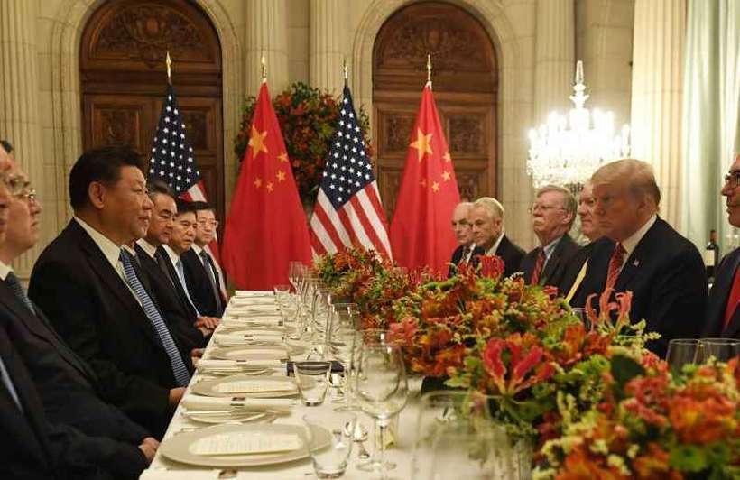 Xi Jinping e Donald Trump jantaram em Buenos Aires durante o G-20. Foto: Saul Loeb/AFP