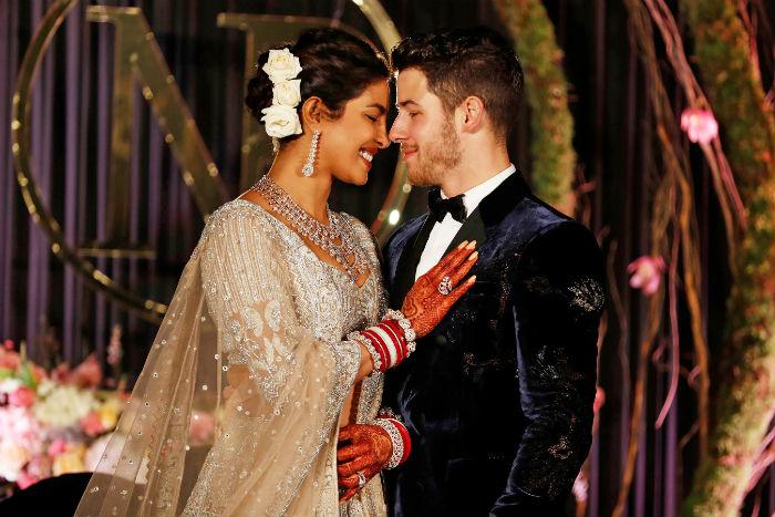 Priyanka usou um vestido Ralph Lauren com um véu de mais de 20 metros. Foto: Reprodução do Instagram.