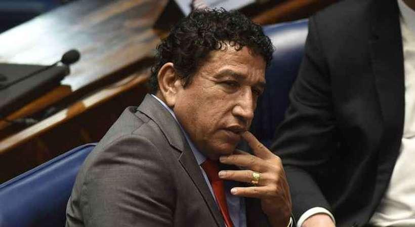 """'Não sou homem de frustração"""", disse o senador Magno Malta ao não ter ganho ministério no governo Bolsonaro. Foto: Ed Alves/CB/D.A Press"""