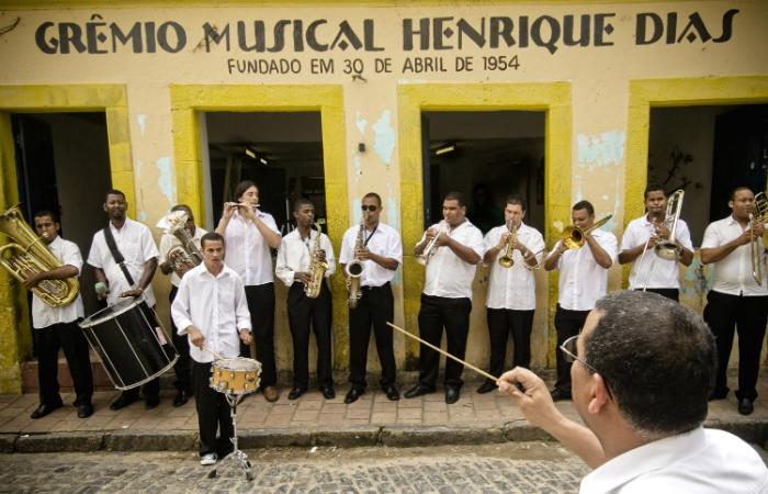 Grêmio Henrique Dias é a primeira escola profissionalizante de frevo de Olinda. Foto: Beto Figueroa/Divulgação