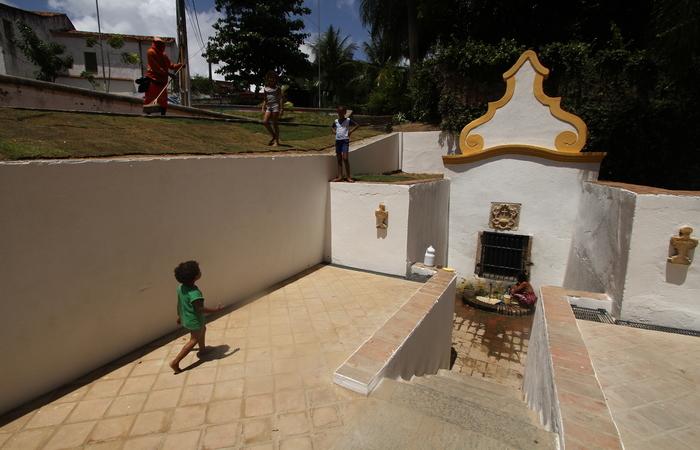 Bica dos Quatro Cantos foi uma das fontes reformadas através de recursos do PAC Cidades Históricas. Foto: Peu Ricardo/DP