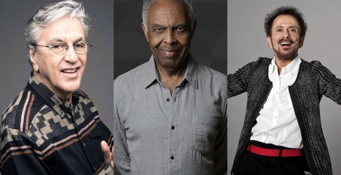 Juntos e individualmente, Caetano, Tom Zé e Gil apresentam sucessos consagrados da música. Foto: Divulgação