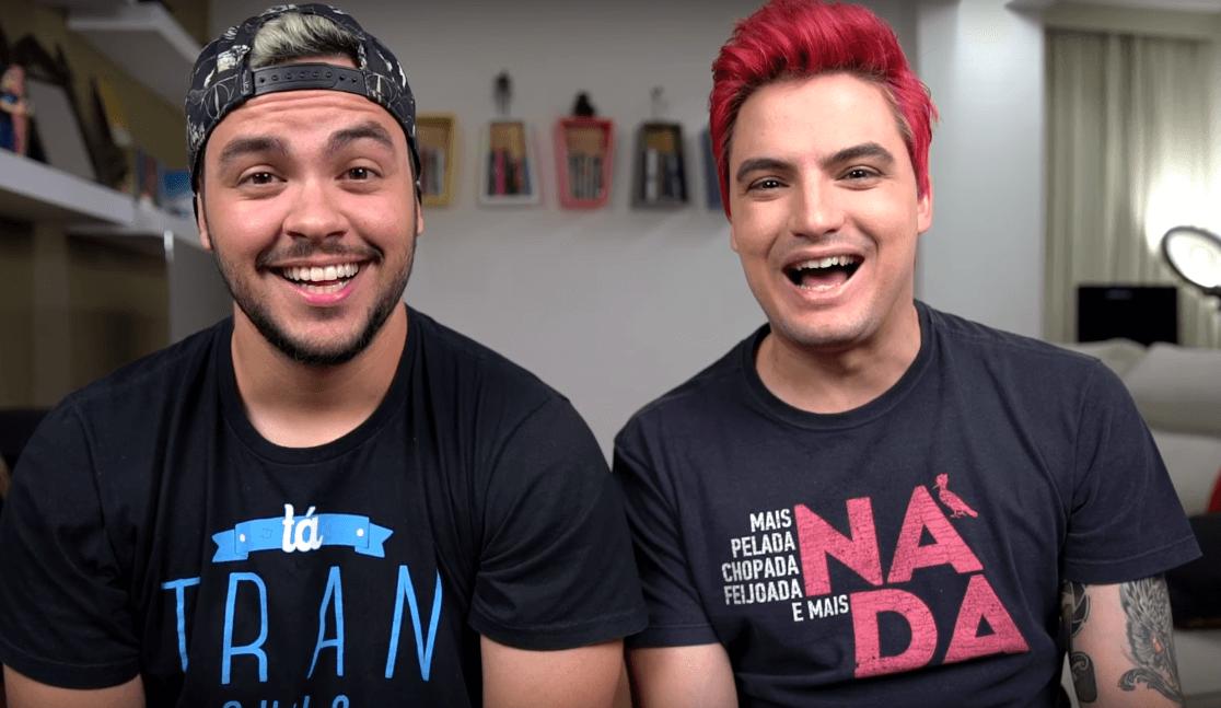 Os irmãos Felipe Neto e Luccas Neto estão nas três listas. Foto: Reprodução/Internet