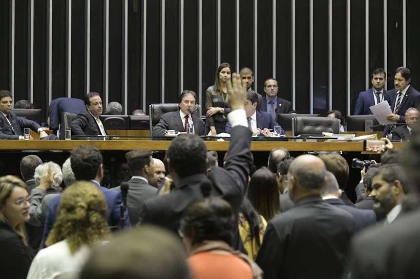 Projeto foi aprovado em votação simbólica, em sessão conjunta do Congresso Nacional, com deputados e senadores, sob críticas da oposição. Foto: Waldemir Barreto/Agência Senado