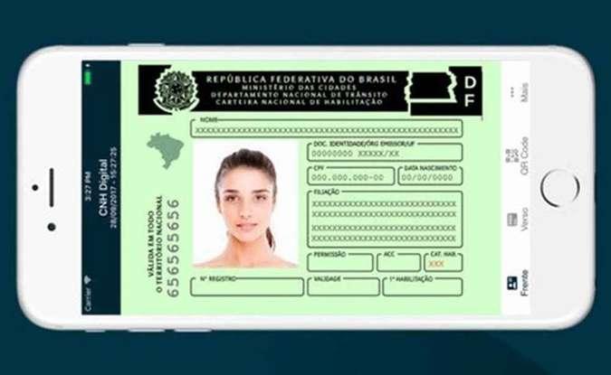 Motorista pode obter CNH Digital direto do celular sem ir ao Detran (foto: Divulgação/Serpro)