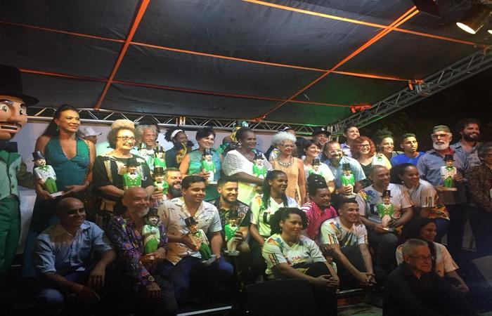 Premiados do 13ª Gigante Cultural. Foto: Gustavo Carvalho/Esp.DP