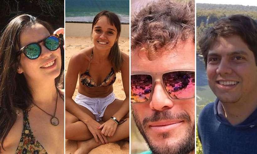 Pollyana, que nadava na cachoeira e Mariana, Alexsandro e Maurílio, que praticavam rapel, foram surpreendidos pela tromba d'água e morreram. Foto: Reprodução/Facebook/Instagram
