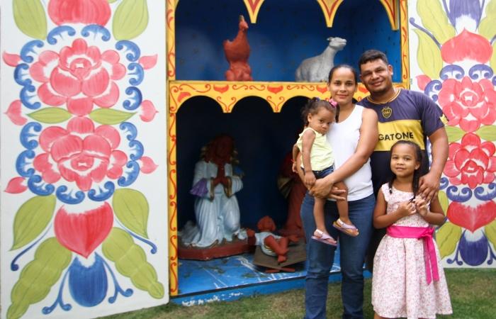Grávida, Beatriz Espinoza conta que a situação na Venezuela está insustentável e procura melhores condições para fazer o parto. Foto: Bruna Costa/Esp.DP.