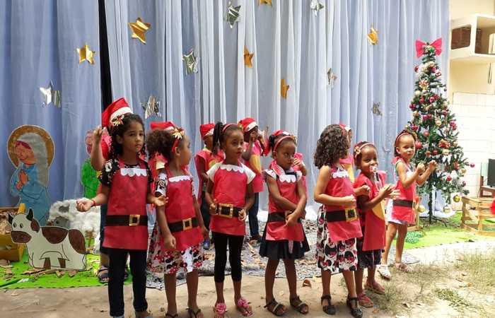 As crianças apresentaram também uma cantata natalina. Foto: Divulgação