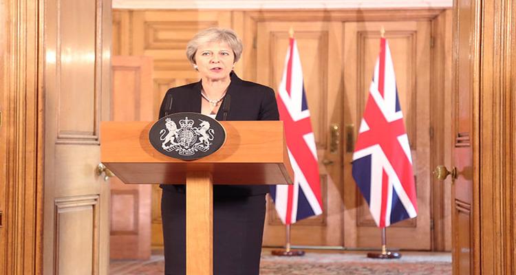 A primeira-ministra Theresa May faz uma declaração sobre as negociações do Brexit. Foto: Fotos públicas.