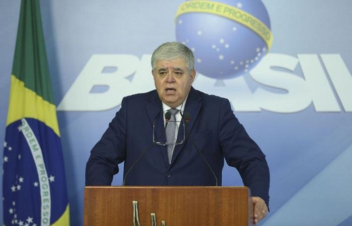 Ministro Carlos Marun concede entrevista no Palácio do Planalto (Foto: Valter Campanato/Agência Brasil)