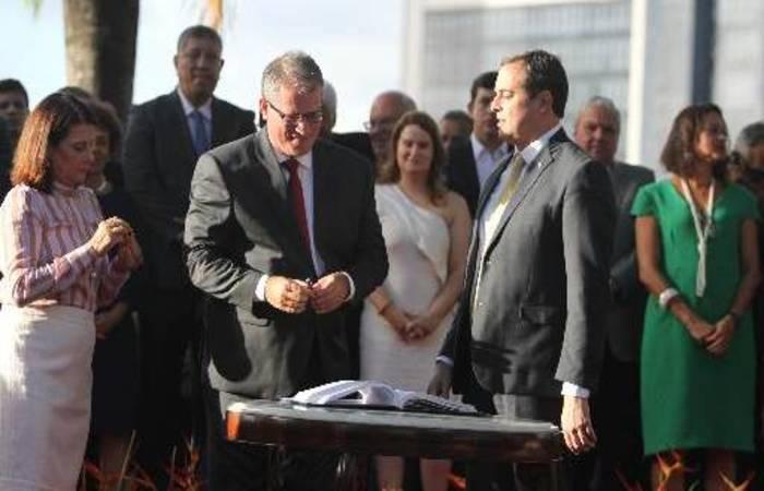 Nilton Mota falou em nome de toda a equipe de Paulo Câmara. Nando Chiappetta/DP