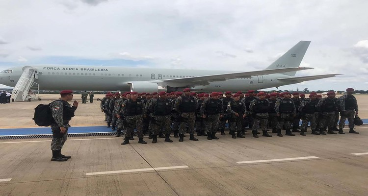 Embarque da Força Nacional de Segurança Pública para Fortaleza. Foto: FNSP